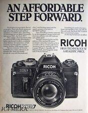 RICOH 'XR7' 35mm SLR Camera Advert - Original 1981 Print AD
