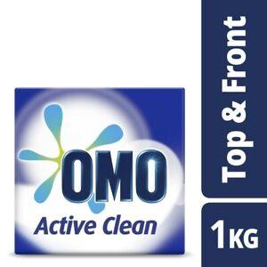 OMO Active Clean Top & Front Loader Laundry Detergent Washing Powder 1kg
