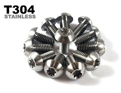 6 Pack Rust Proof Stainless Steel M5x10mm Brake Disc Rotor Bolts