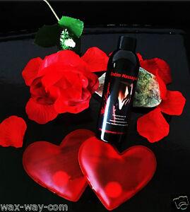 Massageöl Intim Massage Erotik Geschenkset mit Feder Rose Handwärmer Herzen