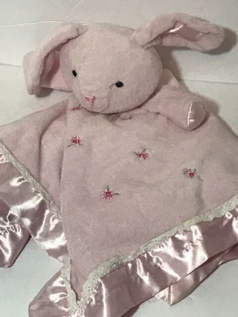 Carter/'s Plush Elephant Pink Flowers Roses Rattle Stuffed Baby Toy 6/""