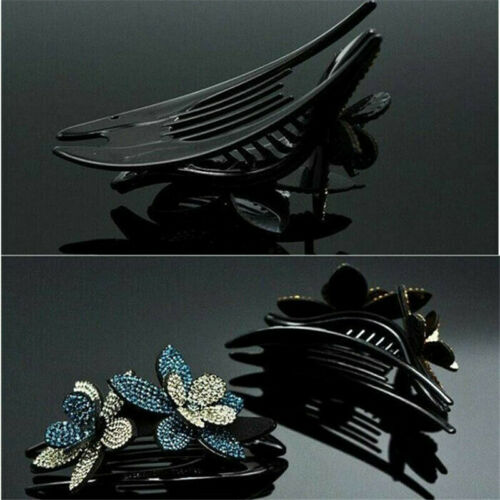 Details about  /Fashion Hairpin Jewelry Women Hair Claw Hair Crystal Hairclip Rhinestone Flower