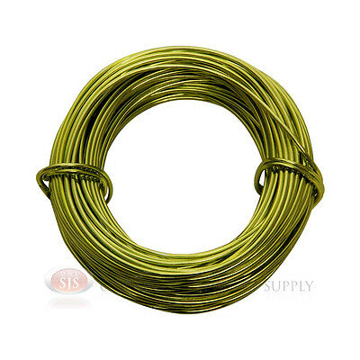 Apple Green Aluminum Craft Wire 18 Gauge 39 Feet 11.8 Meters Wrapping Sculpture