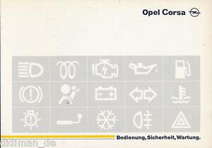 3640OPE-Opel-Corsa-Bedienungsanleitung-1995-4-95-deutsch-owner-039-s-manual