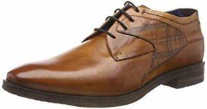 Chaussures cuir marron cognac Daniel Hechter Derbys Homme - Taille 42 NEUF