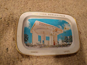 Details about 1964-65 New York World's Fair Plate - Heliport & Top of the  Fair Restaurant Tin