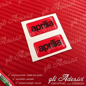 2 Adesivi Resinati Sticker 3D APRILIAWhite /& Black