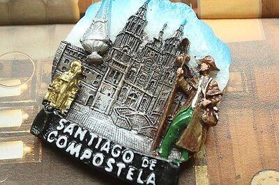 Spain Santiago de Compostela Tourist Travel Souvenir 3D Fridge Magnet Craft GIFT
