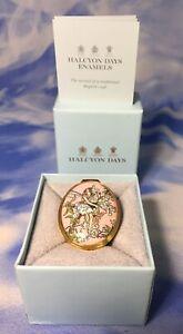 Rare-Halcyon-Days-Enamels-CMB-Flower-Fairies-Blossoms-Trinket-Box-2004-EUC