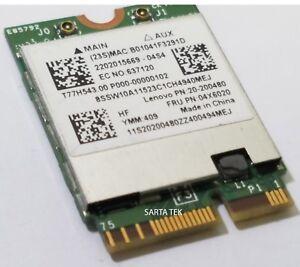 Details about New Broadcom BCM94352Z 802 11ac BT NGFF Lenovo OEM 20200480  04X6020 T77H543 00