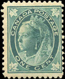 1897-Mint-H-Canada-F-Scott-67-1c-Maple-Leaf-Issue-Stamp