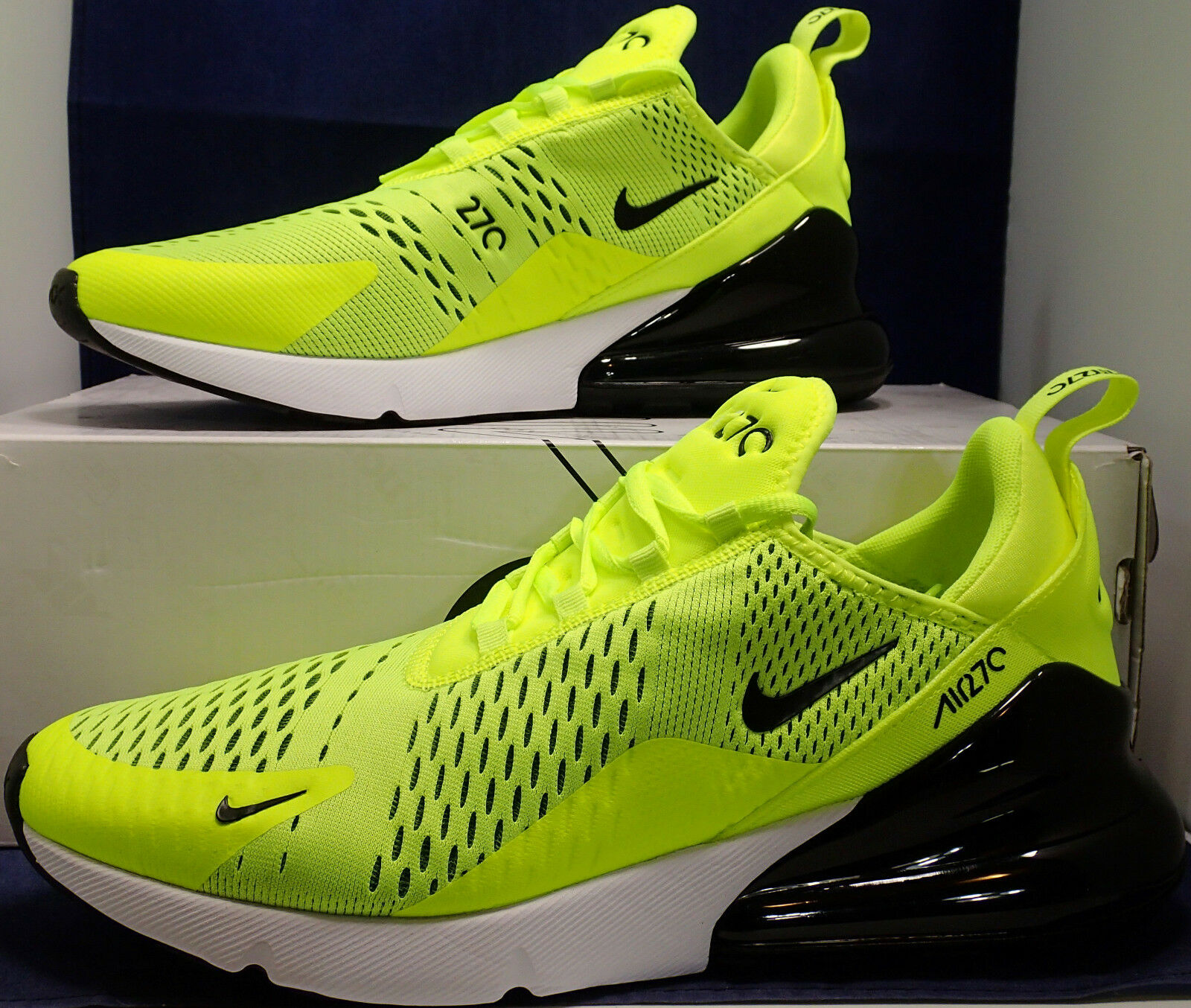 Nike Air Max 270 Volt Black White SZ 10 ( AH8050-701 )