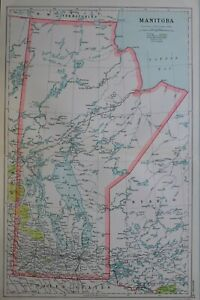 1919-MAP-DOMINION-OF-CANADA-MANITOBA-RAILWAYS-FOREST-RESERVES-HUDSON-BAY