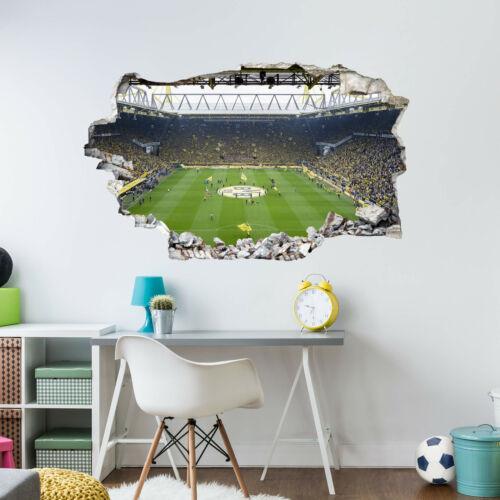 3D Wandtattoo BVB Fan Choreo Fußball Stadion Borussia Dortmund Fanshop Deko