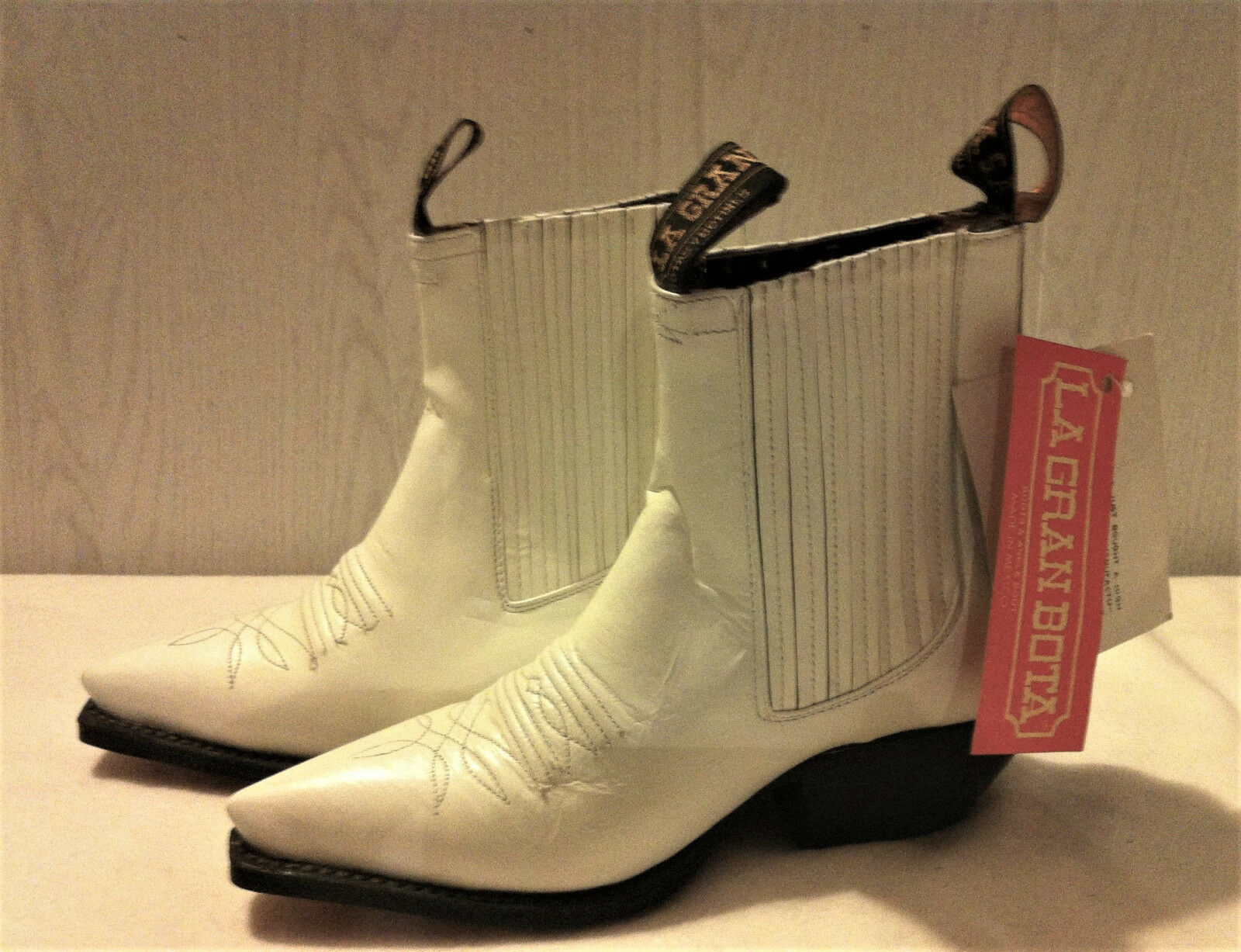 Stiefeletten Mexikanische white white white - Marke   das Gramm Boot   - VINTAGE 90s 7f2d15