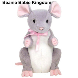 Ty Beanie Baby * BREADCRUMBS * THE GREY & PINK MOUSE May 05 (BBOM) NEW WITH TAGS