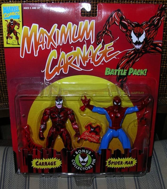 SPIDER MAN  MAXIMUM CARNAGE  CARNAGE & SPIDER MAN   MOC