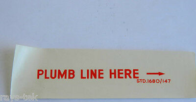 2R1C Aircraft Decal /'Plumb Line Here/' STD 1680//147
