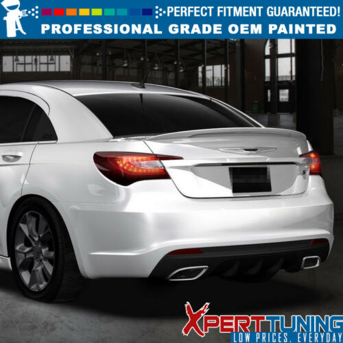 Fit 11-14 Chrysler 200 4D OE Style Painted Trunk Spoiler OEM Painted Color