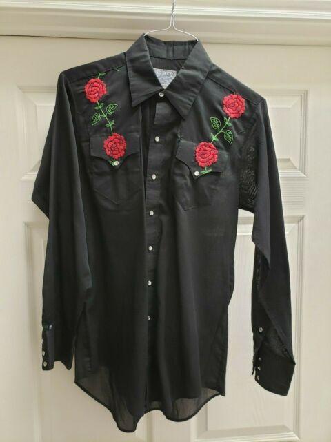 Rockmount Ranch Wear Women's Western Top Long Sleeve Size 16M Pearl Snaps