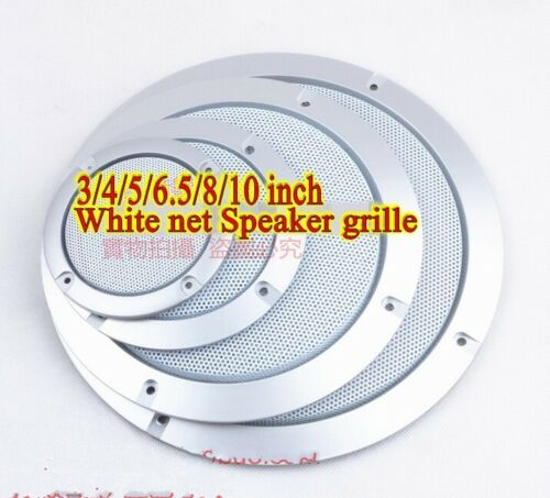 1pcs 3//4//5//6.5//8//10 inch White net Speaker grille decorative circle protective