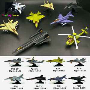 4D Assembled Fighter Airplane Helicopter Model Collection Puzzle Figure Toy
