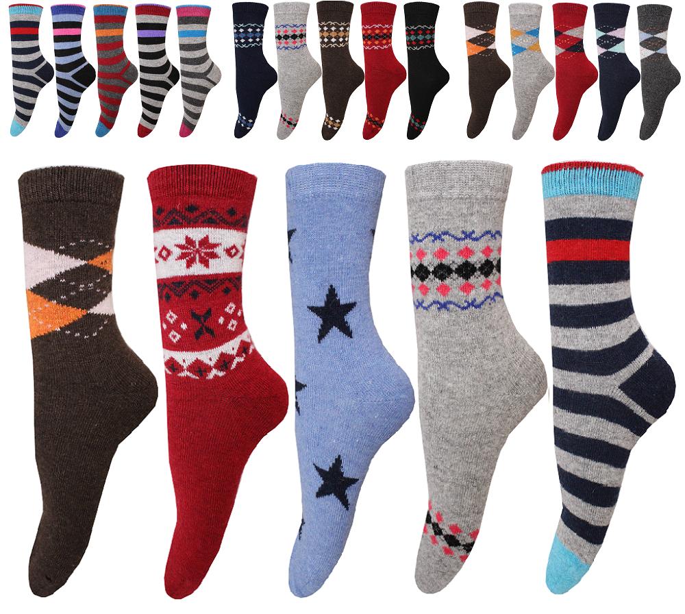 6 Paar Damen Socken Strümpfe Mädchen Business Wintersocken Wollsocken- Angora