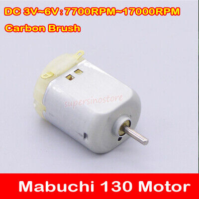DC3V 5V 6V 17000RPM High Speed Carbon Brush Mabuchi Mini 130 Motor DIY Toy Hobby
