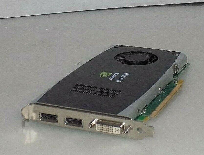 NIDIA QUADRO FX 1800 768MB 192-BIT GDDR3 PCI DVI-I DISPLAY PORT VIDEO CARD