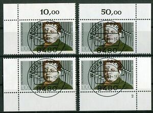 Bund-1529-Eckrand-Ecke-1-4-gestempelt-EST-Vollstempel-Weiden-Formnummer-2-used