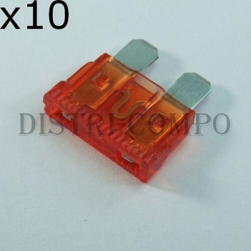 lot de 10 Fusible auto standard 19mm 40A