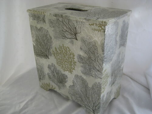 Toilet roll holder wooden Silver Coral Wooden handmade