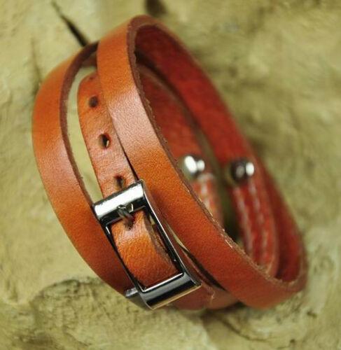 Cool Multi Wraps Clous /& doublé en cuir bracelet bracelet manchette couleur en option