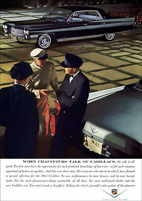 1963 CADILLAC FLEETWOOD 60 SPECIAL RETRO A3 POSTER PRINT FROM ADVERT 1963