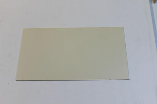 "STYRENE POLYSTYRENE PLASTIC SHEET .080/"" THICK 6/"" X 6/""  CREME COLOR"