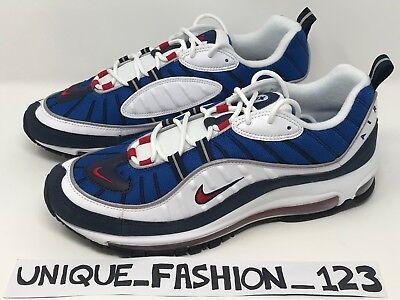 Nike Air Max 98 Gundam QS OG 6 7 8 9 10 11 97 640744 100 Blue Thunder Rouge Blanc   eBay