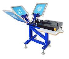 Silk Screen Printing 3 Color Combine Machine 1 Station 1 Dryer Press Equipment