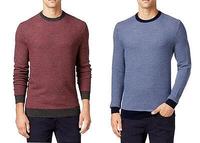 New Mens Club Room Crew Neck Estate Merino Wool Blend Pullover Sweater