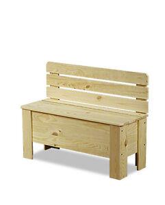 holztruhe holzbank truhenbank sitzbank f r kinder spielkiste b 12 3 farben ebay. Black Bedroom Furniture Sets. Home Design Ideas
