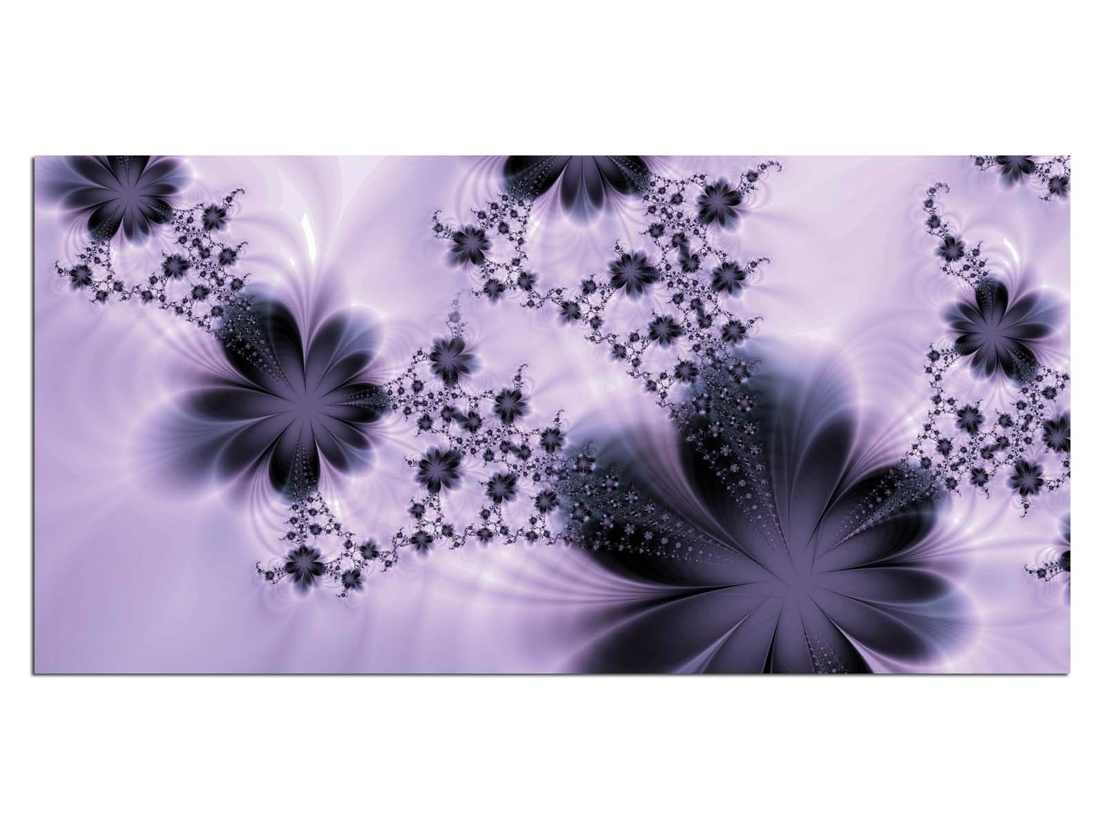 Deco Glass Picture EG4100500787 COOL FLOWER FLY PURPLE Size 39,37  x 19,68  HD P