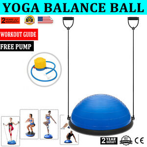 23-034-Yoga-Ball-Balance-Trainer-Yoga-Fitness-Strength-Exercise-Workout-w-Pump-Blue