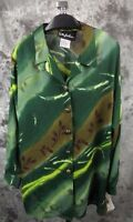 Anthony Hankins Blouse Top Size 14 Green Print