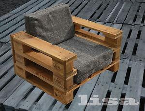 Lounge Gartenmobel 1 Sitzer Palettenmobel Terrasse Vintage Design