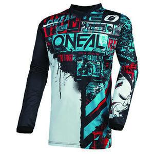O'Neal 2021 Men's Element Racewear Ride Jersey Black/Blue All Sizes