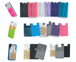 Credit Card ID Holder For Women & Men iPhone Smart Phone Case Silicone Wallet