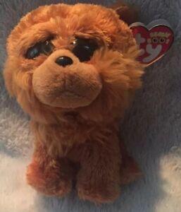 "Ty Beanie Boos 6"" Barley the Chow Chow Dog Plush Stuffed Animal Cute Soft Brown"
