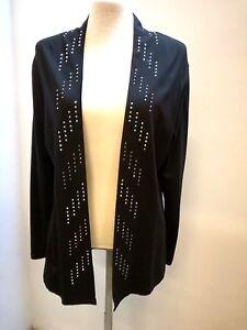 pour sans Veste rayures viscose jersey tricoté fermeture en femmes argentées C7CnqtwBx