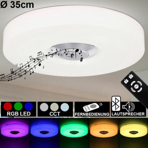 RGB LED Decken Lampe dimmbar Bluetooth Lautsprecher Leuchte weiß Fernbedienung