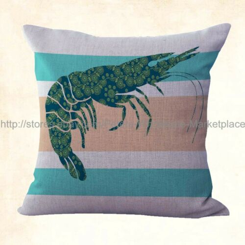 OCEAN Marine crevette Mandala Decorative Pillow Covers bon marché US vendeur