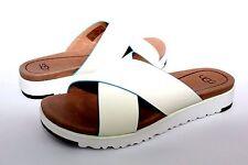 c75bb185fee UGG Australia Kari Slide Sandals in White Leather Womens Size 6 US